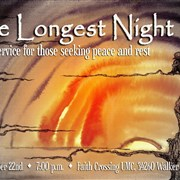Longest night joint service is slated for Dec. 22 in Walker