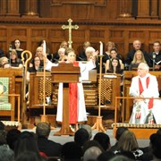 Bishop Harvey preaches during Celebration of Ministry