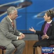 Bishop Cynthia Fierro Harvey shares message of prayer and action during TV interview